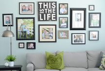Picture wall / dreams of making my own set of pictures and frames