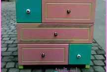 Colorful furniture by Atelierul Rozz