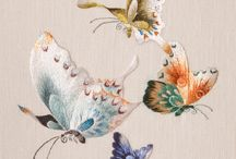 Papillons broderie