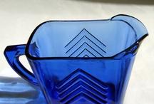 Blue Depression Glass / by LeOra D