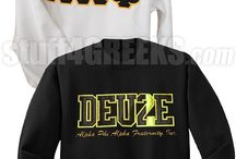 Greek Sweatshirts / Fraternity/sorority sweatshirts and hoodies with Greek letters and designs sewn on (embroidered). You'll be the center of attention with a customized pullover hoodie, zip up hoodie, or a crewneck sweatshirt. Add custom stitched text and numbers to the front, sleeves, and back - even add  embroidered logos and artwork! Shop online at http://www.s4g.com/sweatshirts