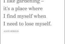 Garden Wisdom Series - Favourite Quotes / Food and gardening quotes that inspire!