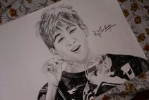 Kpop Idol Sketch by Me / All Kpop Idol I admire
