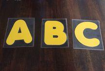 High contrast alphabet cards