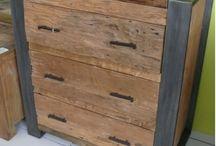 cómoda reciclada / cómoda reciclada de madera de teca y acero  Diseño, producción y fabricación exclusiva y ecológica por www.comprarenbali.com