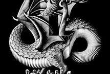 escher / Escher, es un visionario que revoluciona la visión en 3 dimensiones mucho antes de la era digital, una revolución comparable con el descubrimiento de la perspectiva por los renacentistas