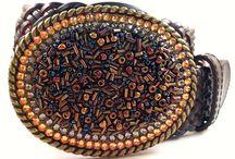 Beads and Swarovski Crystals / Handmade Swarovski Crystal Belt Buckle with Multi Shaped Beads