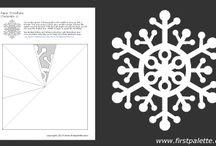 DIA DE LA NIEVE / copos de nieve, plantillas