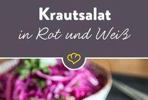 Krautsalat in Rot und Weiß