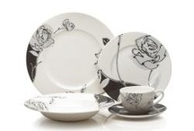 Black And White Dinnerware