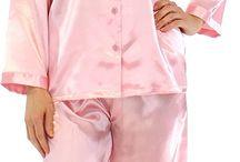 Long satin pyjamas