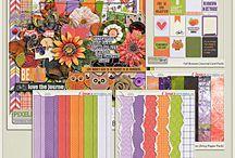 {Fall Breezes} Digital Scrapbook Kit by Pixelily Designs