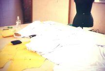 Rotina de atelier / Um pouco de minha rotina de trabalho, entre tecidos e alfinetes belas criações surgem... / by Lenny Sant's