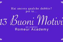 13 Motivi per scegliere Romeur Academy Make Up / Stai cercando un corso professionale di Make Up? Romeur Academy ti offre la possibilità di scegliere il tuo corso preferito