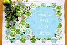quilts: hexies