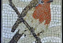 mosaico de ave