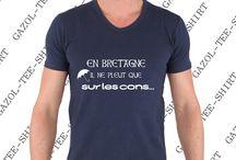 T-shirt En Bretagne il ne pleut que sur les cons