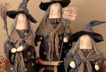 Things that go bump in the night... / Halloween themed dolls, ornaments and figurines.
