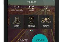 App Screens / Just Ride Along Motorcyclist App Screens
