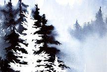 příroda - malba