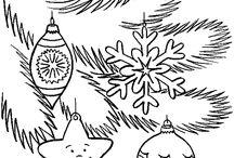 Vánoce / omalovánky