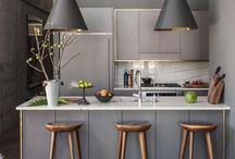 Grey Kitchen Inspirations / Grey is so popular right now! Be inspired :)