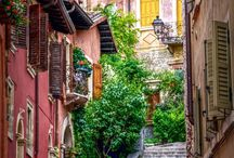 Narrow street / nice beautiful alley around the world