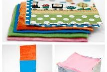 fabric blocks with rattle