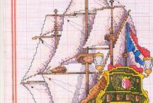 Vyšívání - lodě