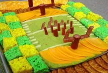 football food / Ideas and recipes for creative football themed foods to enjoy during football games and tailgating