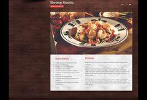 //food site design / by Hannah Tyson