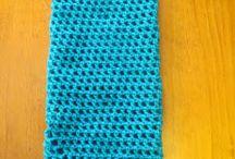 Crochet plastic bag pouch