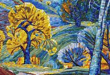 Mosaic trees and scene