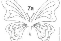 motýl vystrihovanka