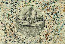 ships illustrations / #ships #illustrations #traditional #ink #boats #journey #sea #travel #color #annaddeligianni