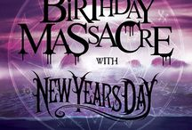 The Birthday Massacre / Collection of designs and ideas for the upcoming web design project.
