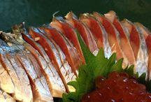 Sushi, fresh fish cooking