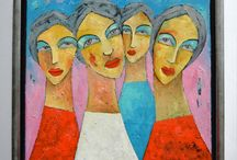 """Women"" - painting by Miroslaw Hajnos / art, painting and cartoons"