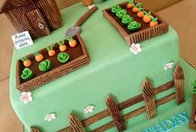 decorating with icing / cakes with a garden theme