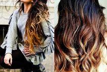 Inspiration coiffure/coiffage/couleur / Cheveux, coiffure, couleur, nuances, texture.