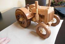 Wooden Toy Tractors