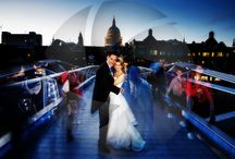 Weddings in London / London! One of the most dynamic cities in the world with some of the most iconic landmarks in the world, St Paul's Cathedral, the Millennium Bridge, the London Eye, Houses of Parliament.