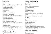 Earthquake Supplies and Tips