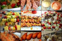 ! RECIPE: BUFFET / PARTY / FOOD ON A STICK! / food on a stick! little portion ideas so we can try a little bit of everything