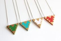 Polymer clay geometric necklaces