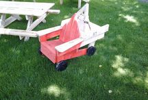 """little Monster / I saw a picture of a tow Truck that a Father made, his Version of an other Project. I thought it was sweet so I built one too. Turned out """"nice"""". On Saturday I Pickel up my load of Pallets from my very reliable Packing Firm. My Wife had arranged that a couple of Cable Rolls were also there. That's it, that was missing. The sweet little Tow Truck just turned into """"The Little Monster!"""