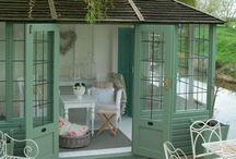 Remise / Verte avec porte