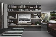 Pratico Day per librerie / Pratico Day è anche un sistema pensato da Zanette per l'arredamento del salotto o del soggiorno: la boiserie attrezzata e l'attrezzatura composta da ripiani e cassettiere diventa infatti un'ottima soluzione per creare librerie pratiche ed eleganti, per le quali è possibile scegliere tra diverse finiture. Per saperne di più: http://www.zanette.it/it_IT/products/3/gallery/9/line/18