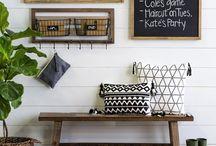 Rustic desk area