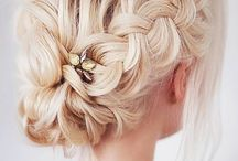 ☽ Lunula ☾ / Blonde Braids, Hairstyles, Wavy
